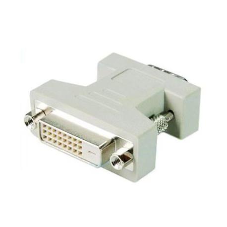 Image of   DVI 24+1-pin hunstik til VGA 15-pin han-adapter
