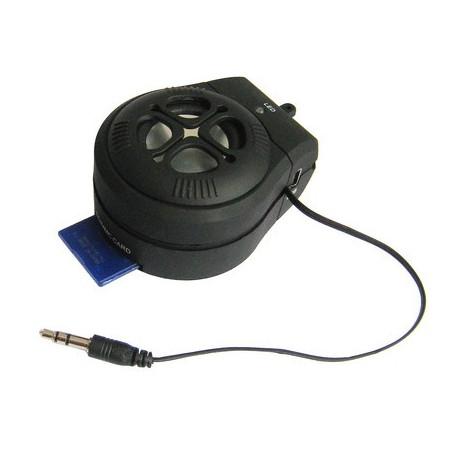 Mini Portable Speaker with SD / MMC-kortlæser, genopladeligt Li-batteri, støtte Audio Out