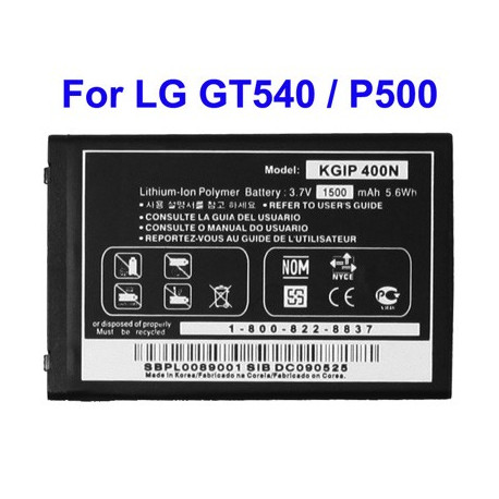 Image of   Batteri til mobiltelefon LG GT540 / P500 / GX200 / GX500