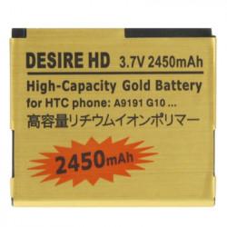 2450mAh High Capacity Guld Batteri to the HTC Desire HD