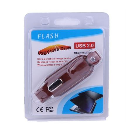 Image of   2 GB USB-flashdrev i læder