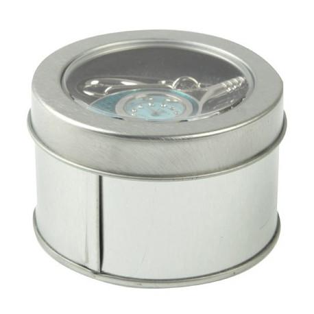 Image of   3-i-1 nøglering m. 32 GB USB-flashdrev, ur, diamantudsmykning, tennisketsjer-design (blå)