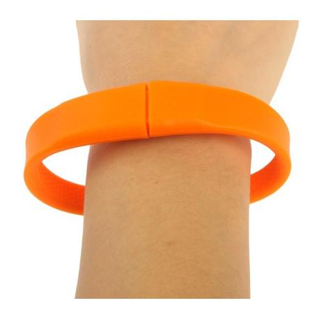 """Image of   4GB """"Silicon"""" armbånd med en USB 2.0 Flash Disk (orange)"""