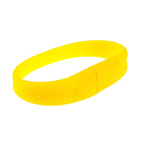 "Image of   2GB ""Silicon"" armbånd med en USB 2.0 Flash Disk (gul)"
