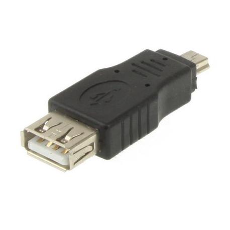 Image of   Adapter m. USB 2,0 hunstik til Mini USB 5-pin hanstik