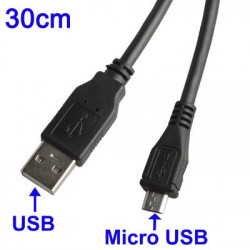 USB 2,0 the Micro USB-kabel, Length: 30cm