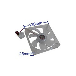 120mm 4-pin Transparent Cooling Fan with Dual Stik, built i 4 LED-lys (12,025 4-pin)