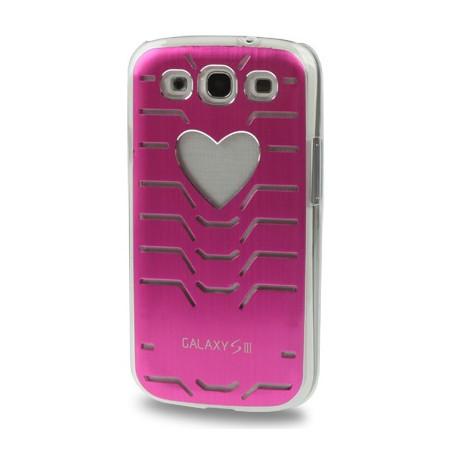 Image of   Beskyttende bagside til Samsung Galaxy SIII / i9300 i ultratyndt metal, blinker ved opkald (magenta)