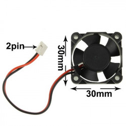 30mm 2-pin VGA Card Cooling Fan (Skrue afstand: 30mm)