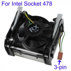 CPU Cooling Fan for Intel Socket 478, 3-pin