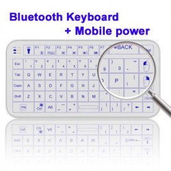 2 in 1 (Mini Bluetooth Keyboard + Mobile power)