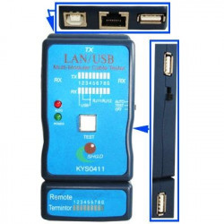USB-kabel, RJ45 and RJ11 Cable Tester