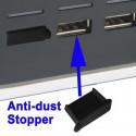 Anti-støv stopklods til alle USB-porte (4 stk per pakke), Sort