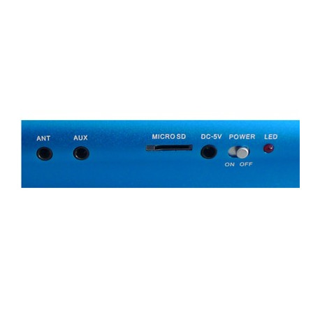 X-168, Music Angel Mini højttaler Med FM-radio, Support TF Card, USB Flash Disk, Indbygget genopladeligt Li-ion-batteri (Baby