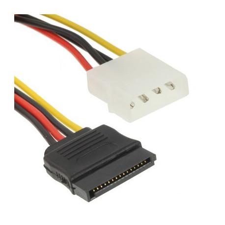 Image of   Strømadapter til 4-pin IDE til seriel ATA (15 cm) i kobber