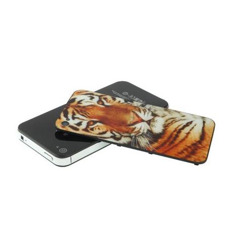 Glasbagbeklædning til iphone 4 m. sibirisk tiger fra N/A fra olsens it aps