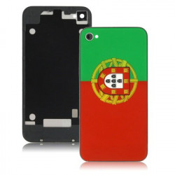 Den Portugal Flag Style udskiftning af glas Back Cover for iPhone 4