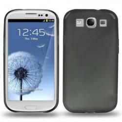 0,3 mm Ultra-thin TPU Taske the Samsung Galaxy SIII / i9300, Transparent version / Mat Edition (sort)