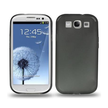 Image of   0,3 mm ultra-tyndt TPU beskyttelseshylster til Samsung Galaxy SIII / i9300, gennemsigtig/mat (sort)