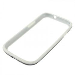 Bumper Stel Hvid Silikone + Sorter TPU the Samsung Galaxy SIII / i9300
