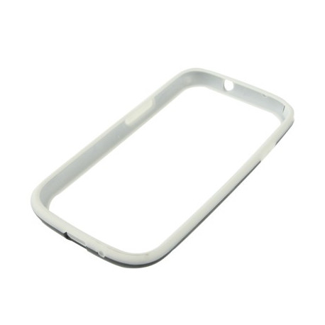 Image of   Hvid silikone + sort TPU beskyttelsesramme til Samsung Galaxy SIII / i9300