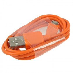 Micro USB-port USB Data Kabel the Nokia, Sony Ericsson, Samsung, LG, BlackBerry, HTC, Amazon Kindle, Length: 1m (Orange)