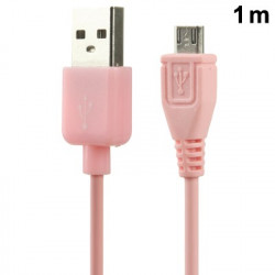 Micro USB-port USB Data Kabel the Nokia, Sony Ericsson, Samsung, LG, BlackBerry, HTC, Amazon Kindle, Length: 1m (Pink)