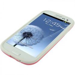 TPU Anslagsrammen Case for Samsung Galaxy SIII / i9300 (Pink)