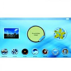 7,0 tommer (16:9) Touch screen 16GB MP5 afspiller with fjernbetjening, support FM-radio, E-mose, Spil, TV-udgang, OTG Funktion