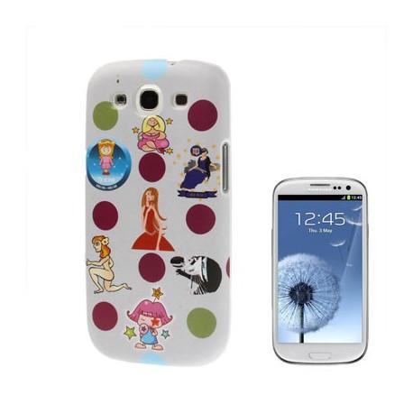 "Image of   12 Constellations Series ""Jomfruen"" Plasticcase til Samsung Galaxy SIII / i9300"