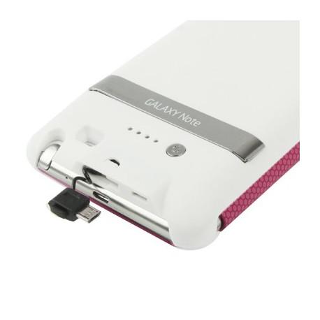 Image of   3000 mAh bærbart eksternt batteri og lædertaske med holder til Samsung Galaxy Note i9220 / N7000