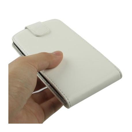 Image of   Lædertaske til Samsung Galaxy SIII / i9300, m. lodret holder (hvid)