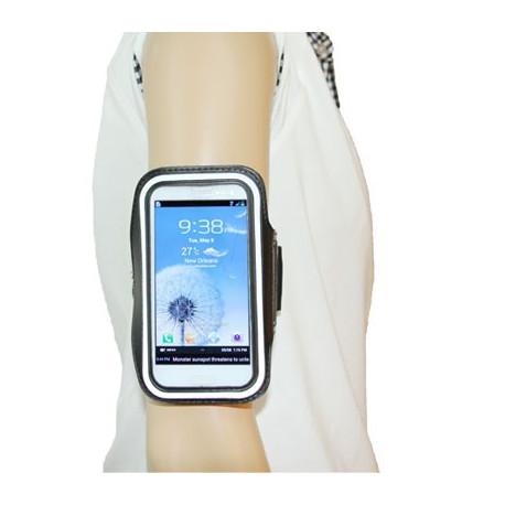 Image of   Armbåndstaske til sport, passer til Samsung Galaxy SIII / i9300, polyuretan (sort)