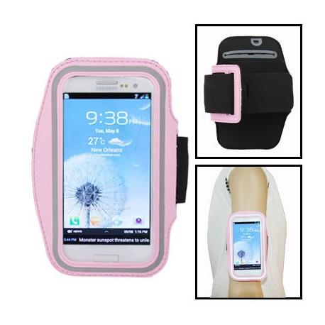 Image of   Armbåndstaske til sport, passer til Samsung Galaxy SIII / i9300, polyuretan (pink)