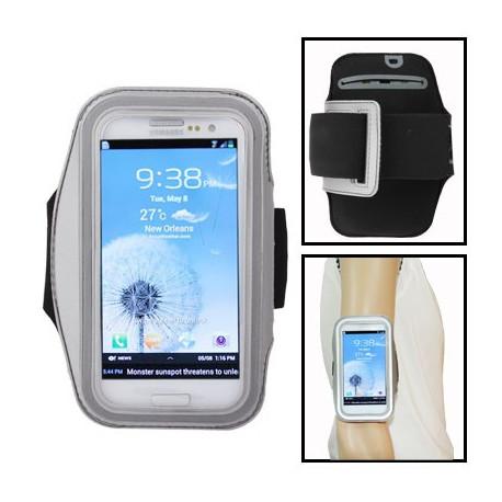 Image of   Armbåndstaske til sport, passer til Samsung Galaxy SIII / i9300, polyuretan (grå)