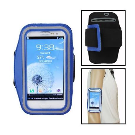 Image of   Armbåndstaske til sport, passer til Samsung Galaxy SIII / i9300, polyuretan (blå)