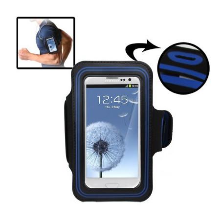 Image of   Sport Armbåndscase til Samsung Galaxy SIII / i9300 med hul til høretelefoner (Mørk blå)