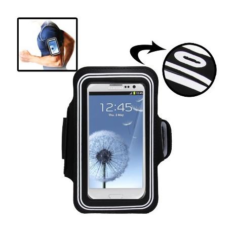 Image of   Sport Armbåndscase til Samsung Galaxy SIII / i9300 med hul til høretelefoner (Hvid)