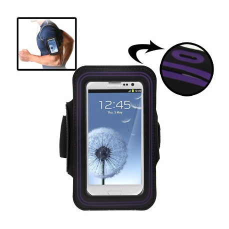 Image of   Sport Armbåndscase til Samsung Galaxy SIII / i9300 med hul til høretelefoner (Lilla)