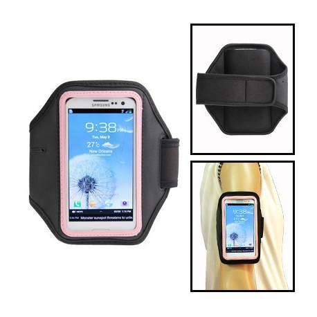 Image of   Sport Armbåndstaske til Samsung Galaxy SIII / i9300 (Sort og Pink)