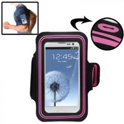 Sports Armband Case with øretelefon Hul to Samsung Galaxy SIII / i9300 (Magenta)