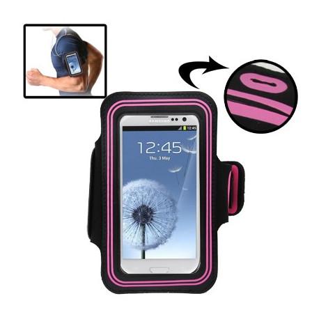 Image of   Sport Armbåndscase til Samsung Galaxy SIII / i9300 med hul til høretelefoner (Magenta)