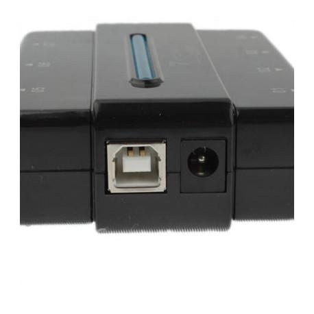 Image of   USB 2,0 HUB m. 7 porte, høj hastighed, sæt i og brug med det samme (sort)