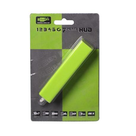 Image of   USB 2,0 HUB m. 7 porte, sæt i og brug med det samme