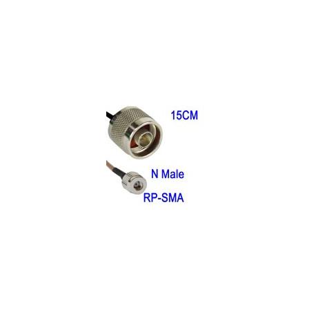 Image of   N han til RP-SMA WiFi Cable, Kabellængde: 15cm