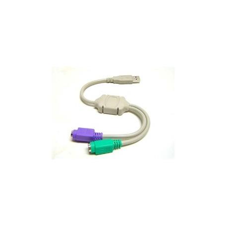 Image of   USB til PS2 Adapter/Converter - muliggør tilslutning af gamle PS/2 Perefirere enheder