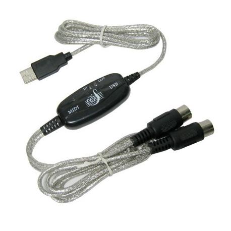 Image of   USB til MIDI keyboard Interface Omformer Kabel